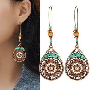5/$25 Water Drop Ethnic Style Boho Drop Earrings